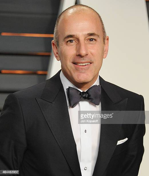 Matt Lauer arrives at the 2015 Vanity Fair Oscar Party Hosted By Graydon Carter at Wallis Annenberg Center for the Performing Arts on February 22...