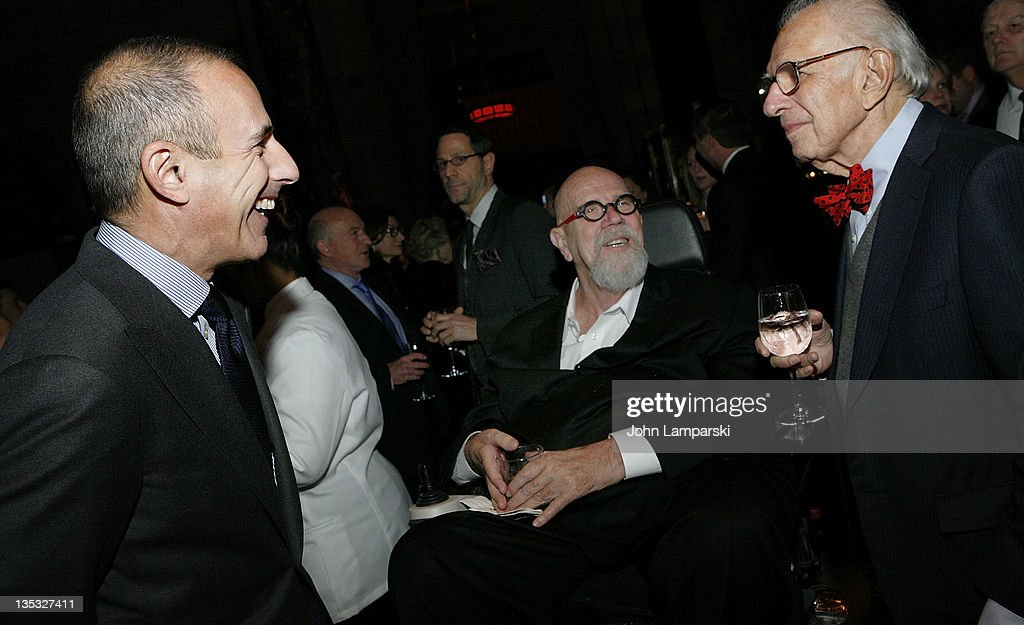 Matt Lauer, artist Chuck Close and Nobel Laureate Eric