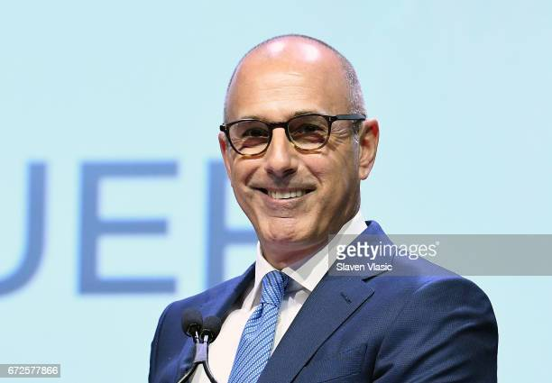 Matt Lauer attends 2017 Matrix Awards at Sheraton New York Times Square on April 24 2017 in New York City