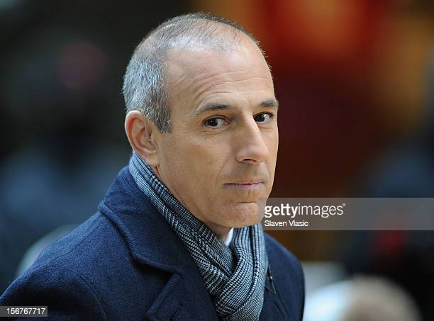 Matt Lauer attends NBC's Today at Rockefeller Plaza on November 20 2012 in New York City