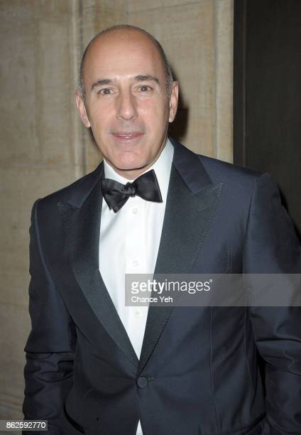 Matt Lauer attends Skin Cancer Foundation Champions For Change gala at Cipriani 25 Broadway on October 17, 2017 in New York City.