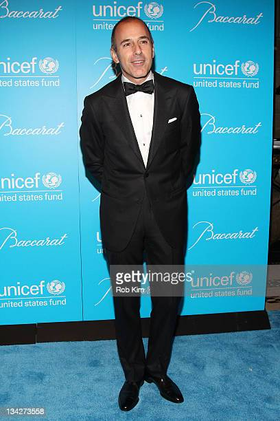 Matt Lauer attends the 2011 UNICEF Snowflake ball at Cipriani 42nd Street on November 29 2011 in New York City