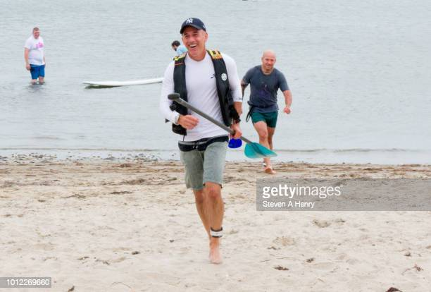 Matt Lauer attends the 2018 Hamptons Paddle and Party for Pink on August 4 2018 in Sag Harbor New York