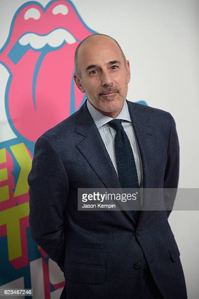 Matt Lauer attends The Rolling Stones celebrate the North American debut of Exhibitionism at Industria in the West Village on November 15 2016 in New...