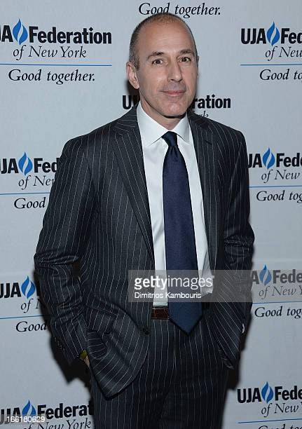 Matt Lauer attends UJAFederation Of New York BroadcastCable And Film Award Celebration at The Edison Ballroom on April 9 2013 in New York City