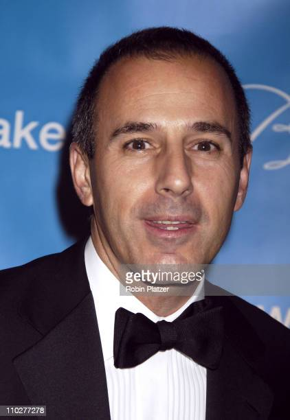 Matt Lauer during 2nd Annual UNICEF Snowflake Ball Arrivals at The Waldorf Astoria Hotel in New York City New York United States