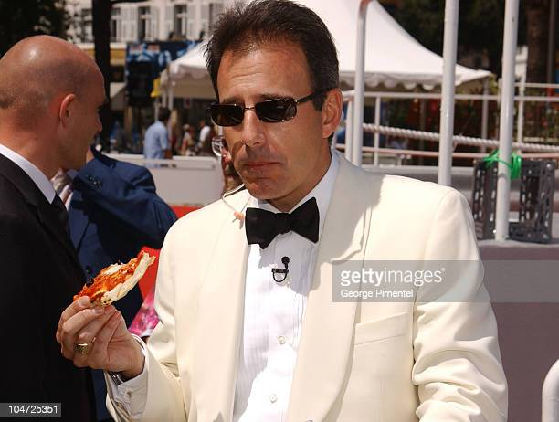 """Matt Lauer during Cannes 2002 - """"Bon Appetit"""" Chef Mario Batali Makes Red Carpet Pizza Delivery in Cannes, France."""
