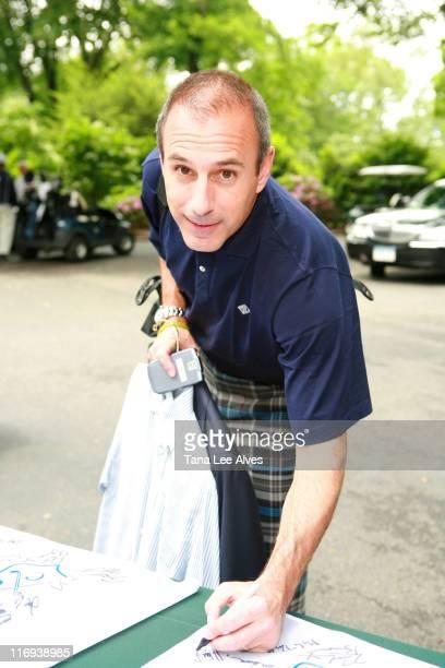 Matt Lauer during First Annual Autism Speaks Golf Classic at Deepdale Golf Club in Manhasset New York United States