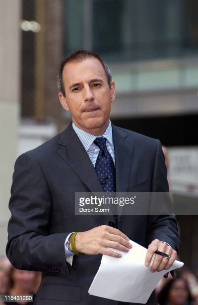 Matt Lauer during Michael Bolton and America's Got Talent Judges Visit NBC's The Today Show June 19 2006 at Today Show Studios in New York City New...