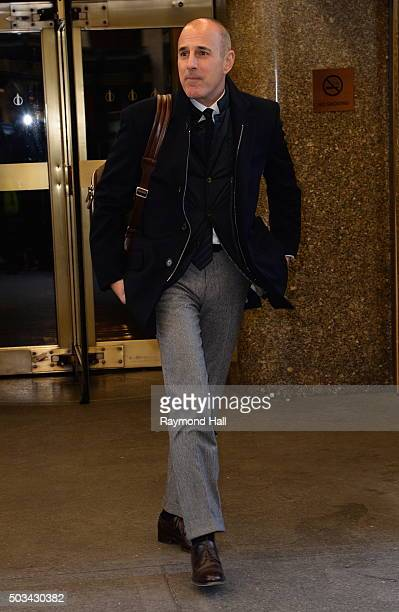 Matt Lauer is seen in 'Midtown'on January 4 2016 in New York City