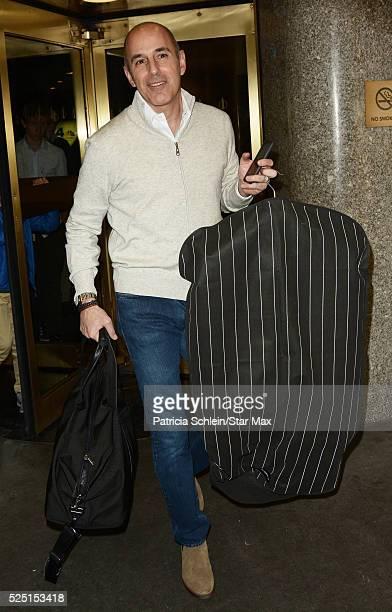 Matt Lauer is seen on April 27 2016 in New York City