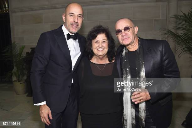 Matt Lauer Jeanne WhiteGinder and Bernie Taupin attend the Elton John AIDS Foundation Commemorates Its 25th Year And Honors Founder Sir Elton John...