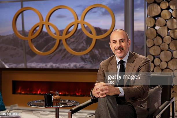 Matt Lauer on February 15, 2014 during the XXII Olympic Winter Games in Sochi, Russia --