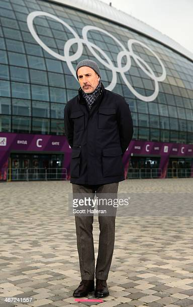 Matt Lauer reports for the NBC Today show in the Olympic Park ahead of the Sochi 2014 Winter Olympics on February 5 2014 in Sochi Russia