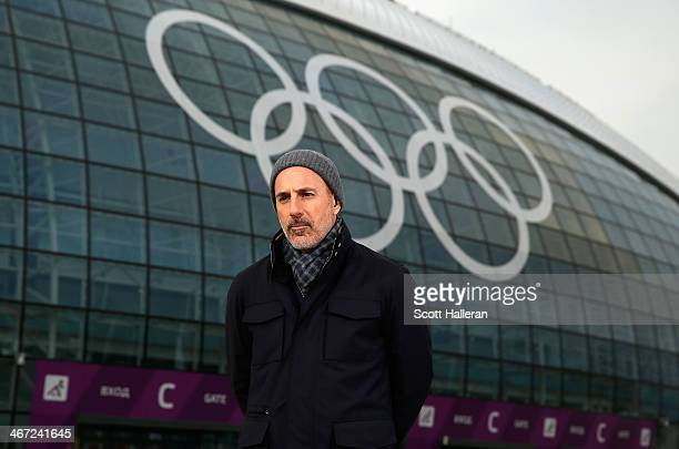 Matt Lauer reports for the NBC Today show in the Olympic Park ahead of the Sochi 2014 Winter Olympics on February 5, 2014 in Sochi, Russia.