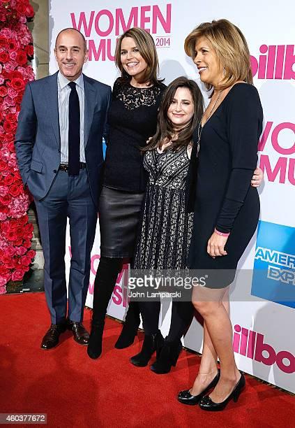 Matt Lauer, Savannah Guthrie and Hoda Kotb attend 2014 Billboard Women In Music Luncheon at Cipriani Wall Street on December 12, 2014 in New York...
