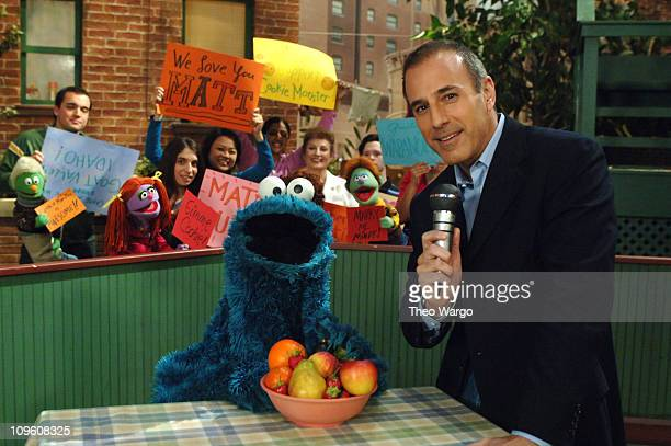 Matt Lauer visits Sesame Street for an exclusive interview with Cookie Monster set to air during the show's 37th season which begins airing August...