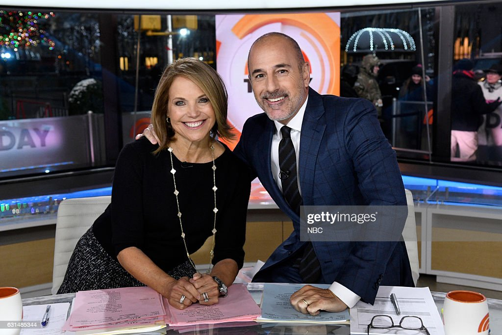 TODAY -- Matt Lauer's 20th Anniversary Celebration -- Pictured: (l-r) Katie Couric and anchor Matt Lauer on Friday, January 6, 2017 --