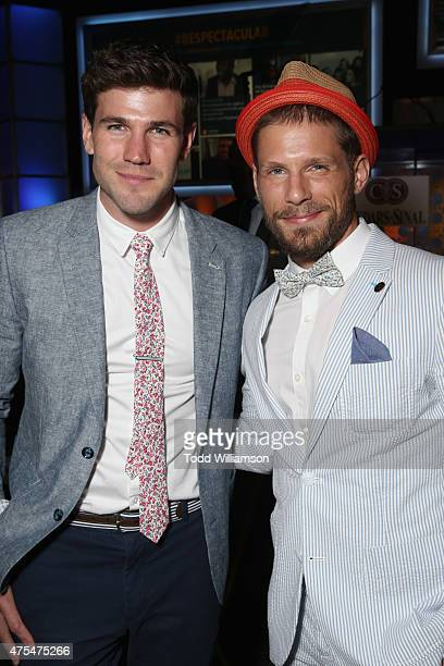 Matt Lauria and Austin Stowell attends the 2015 CedarsSinai Sports Spectacular at the Hyatt Regency Century Plaza on May 31 2015 in Century City...