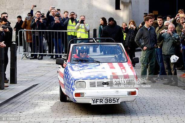 Matt Le Blanc seen filming scenes for Top Gear at the BBC Portland Place on February 19 2016 in London England