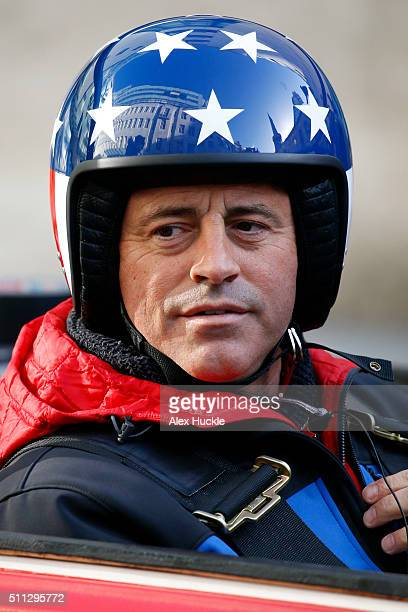 Matt Le Blanc seen filming scenes for 'Top Gear' at the BBC Portland Place on February 19 2016 in London England