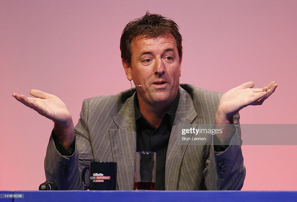 Matt Le Tissier answers questions during Gillette Soccer Saturday Live with Jeff Stelling on March 19, 2012 at the Bournemouth International Centre in Bournemouth, England.