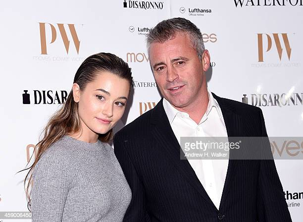 Matt LeBlanc and guest attend the Moves 2014 Power Women Gala at India House Club on November 14, 2014 in New York City.
