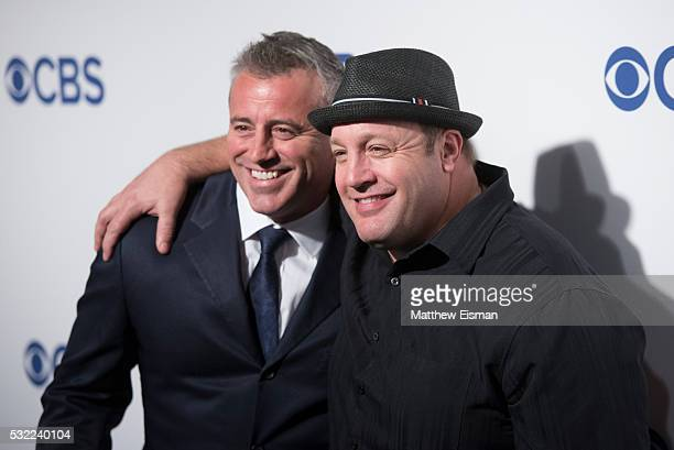 Matt LeBlanc and Kevin James attend 2016 CBS Upfront at The Plaza on May 18 2016 in New York City
