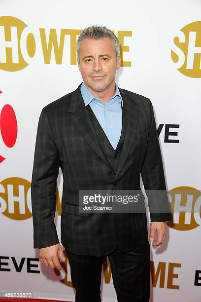 Matt LeBlanc arrives at the Showtime 2015 Emmy Eve Party at Sunset Tower Hotel on September 19 2015 in West Hollywood California