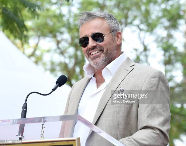 Matt LeBlanc poses as Stacy Keach is Honored With A Star On The Hollywood Walk Of Fame on July 31 2019 in Hollywood California