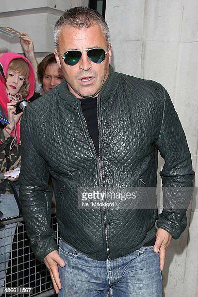 Matt LeBlanc seen leaving BBC Radio 2 on April 25 2014 in London England