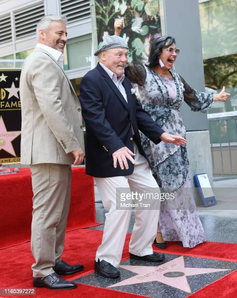 Matt LeBlanc Stacy Keach and Malgosia Tomassi attend the ceremony honoring Stacy Keach with a Star on The Hollywood Walk of Fame held on July 31 2019...