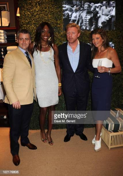 Matt LeBlanc Venus Williams Boris Becker and Annabel Croft attend the Ralph Lauren Wimbledon party at the Ralph Lauren Store on June 17 2010 in...