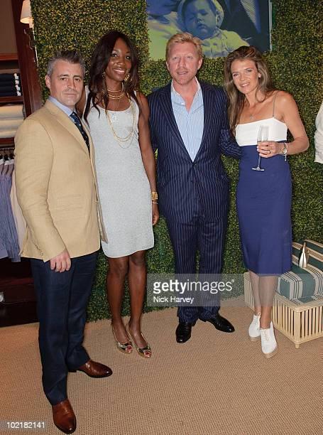 Matt LeBlanc Venus Williams Boris Becker and Annabel Croft attend the Ralph Lauren Wimbledon party on June 17 2010 in London England