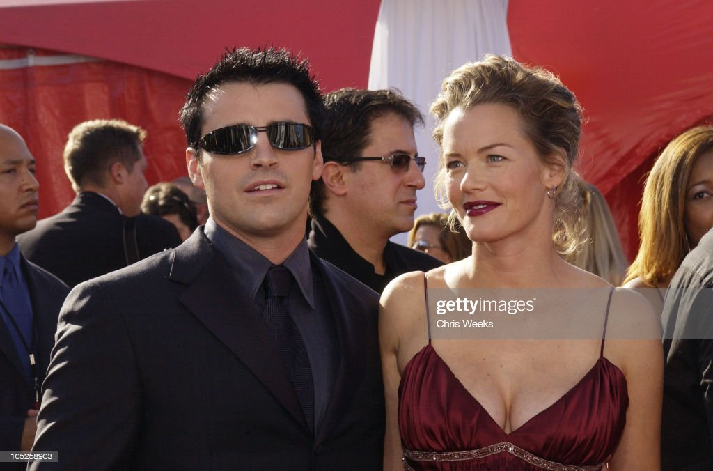 Matt LeBlanc, wearing Ermenegildo Zegna, and wife Melissa McKnight