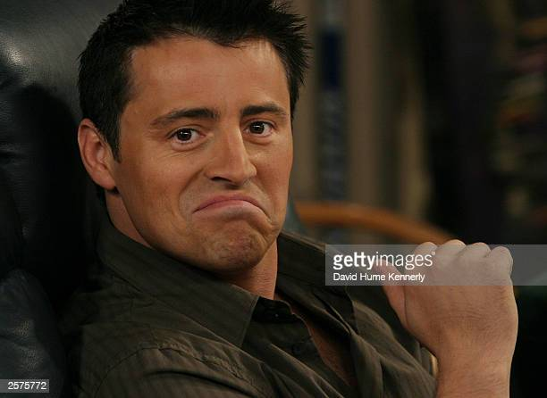 "Matt LeBlanc who plays Joey on the hit NBC series ""Friends"" makes a funny face on the set during one of their last shows on the Warner Bros lot Sept...."