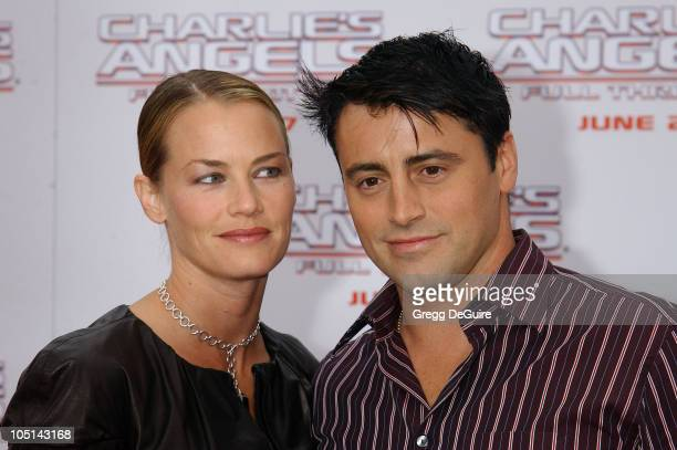 """Matt LeBlanc & Wife Melissa during """"Charlie's Angels 2 - Full Throttle"""" Premiere at Mann's Chinese Theater in Hollywood, California, United States."""