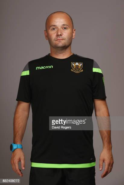 Matt Lee head of medical for Northampton Saints poses during the photocall held at Franklin's Gardens on August 15 2017 in Northampton England