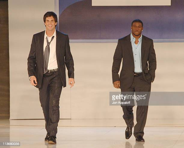 Matt Leinart and Reggie Bush during 2006 General Motors Annual ten Celebrity Fashion Show Inside at 1540 N Vine in Hollywood California United States