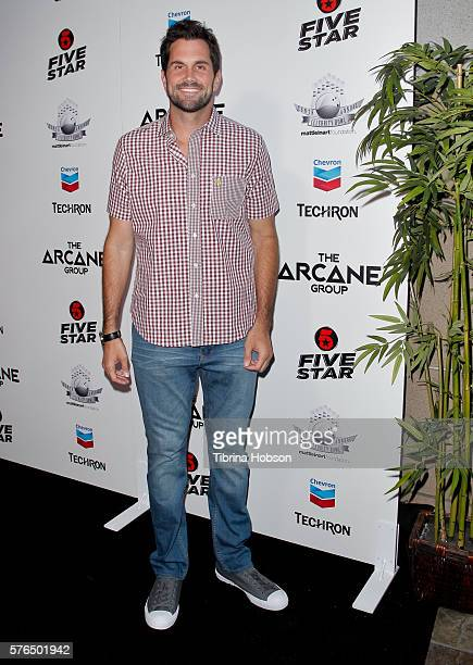 Matt Leinart attends the Matt Leinart Foundation's 10th annual Celebrity Bowl for Charity Event at Lucky Strike Lanes on July 14 2016 in Hollywood...