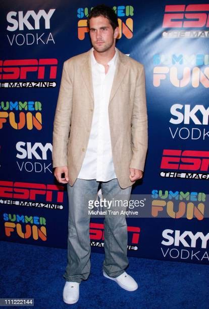 Matt Leinart during ESPN The Magazine Presents Summer Fun 2006 Arrivals at The Roosevelt Hotel in Hollywood California United States