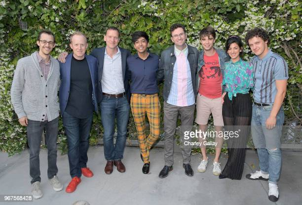 Matt Levin Ian Bricke Nicky Weinstock Nik Dodani Craig Johnson Daniel Doheny Ayden Mayeri and Antonio Marziale attend a special screening of the...