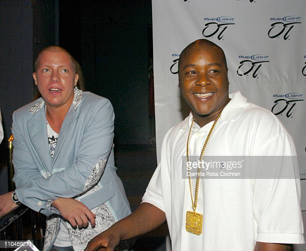 Matt Levine and Jadakiss during The Bud Light Overtime 2nd Annual Draft Party hosted by Carmelo Anthony and DJ Clue at Pacha in New York City New...