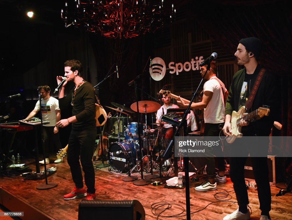 Matt Lipkins, Scott Schwartz with Adam Hoffman of The Shadowboxers performs for Spotify Open House Nashville at Analog in the Hutton Hotel on December 6, 2017 in Nashville, Tennessee.