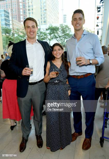 Matt Livingston Stacie Schwartz and Keith Miller attend Lincoln Center Corporate Fund's Stand Up Sing for the Arts at Alice Tully Hall on June 19...