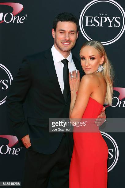 Matt Lombardi and Nastia Liuken arrive at the 2017 ESPYS at Microsoft Theater on July 12 2017 in Los Angeles California