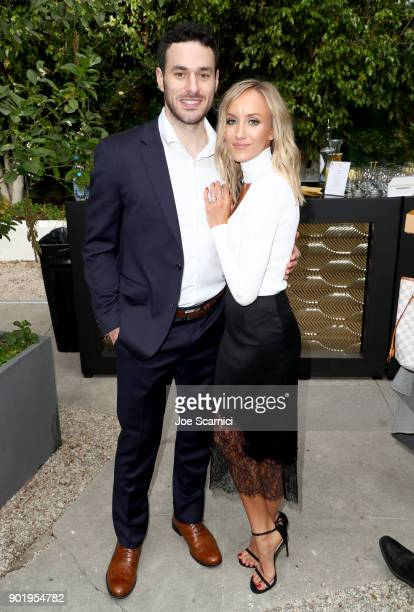 Matt Lombardi and Nastia Liukin attend GOLD MEETS GOLDEN The 5th Anniversary Refreshed by CocaCola Globes Weekend Gets Sporty with Nicole Kidman and...