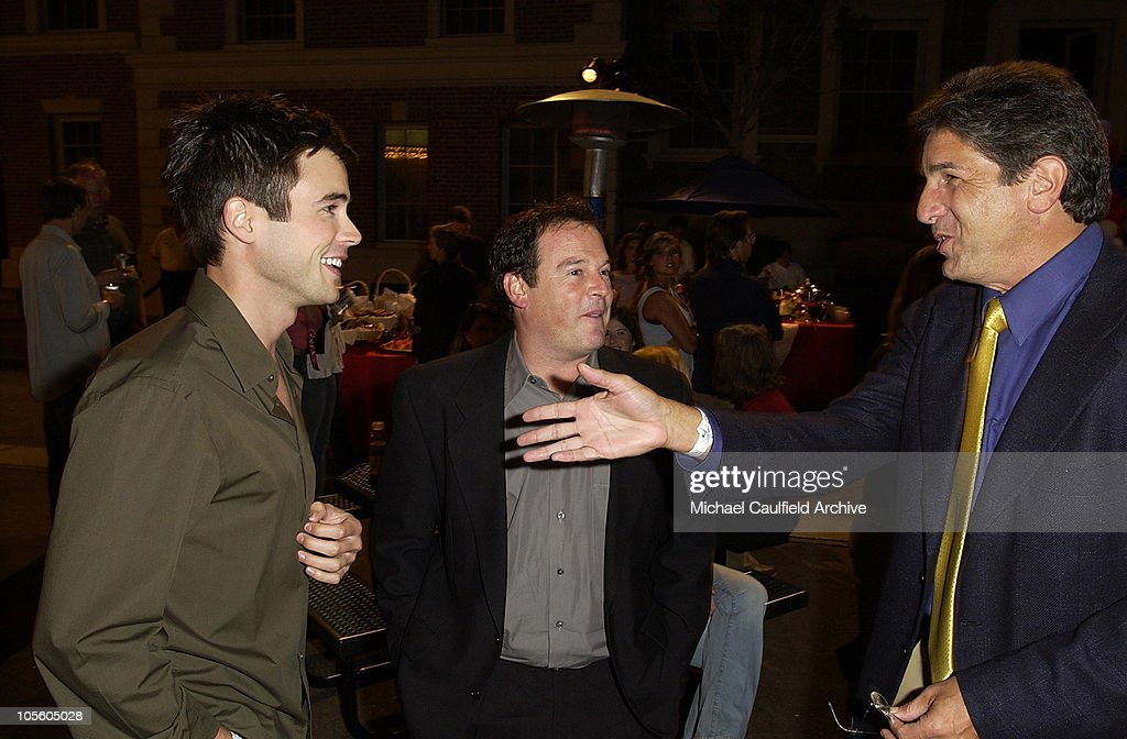 Matt Long and David Janollari, president of Entertainment WB and Brad Turell of WB