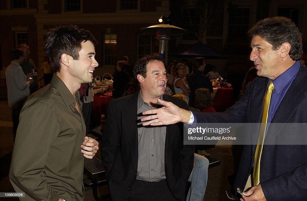 Matt Long and David Janollari, president of Entertainment WB and Brad Turell of WB