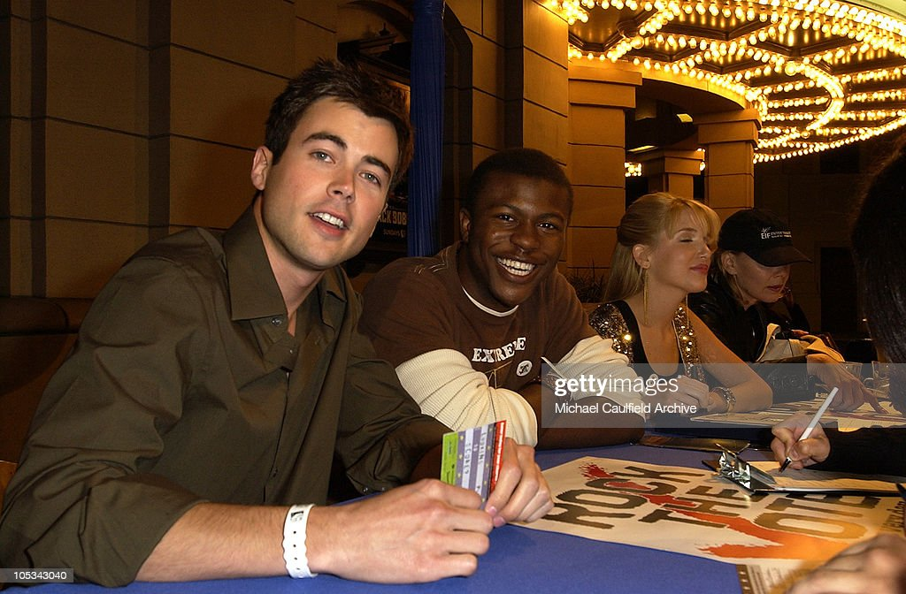 Matt Long and Edwin Hodge during The WB Network's 'Jack and Bobby' Rock the Vote Party -Inside at Warner Bros. Studios in Burbank, California, United States.